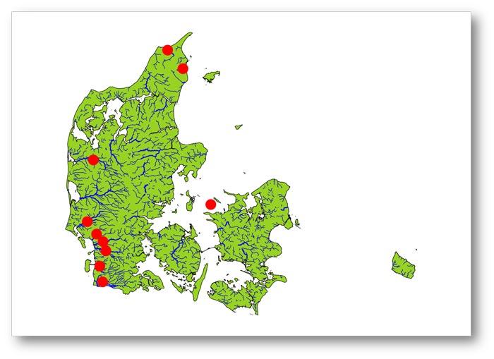 vandløb i danmark kort