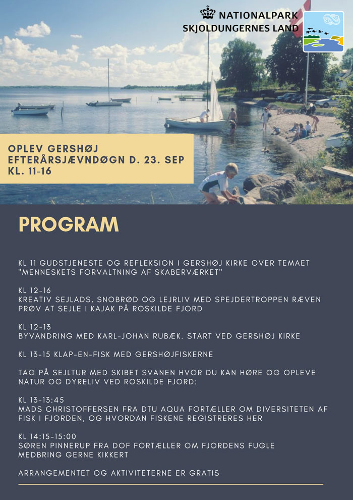 Program for arrangement i Gershøj Havn 23. september 2018