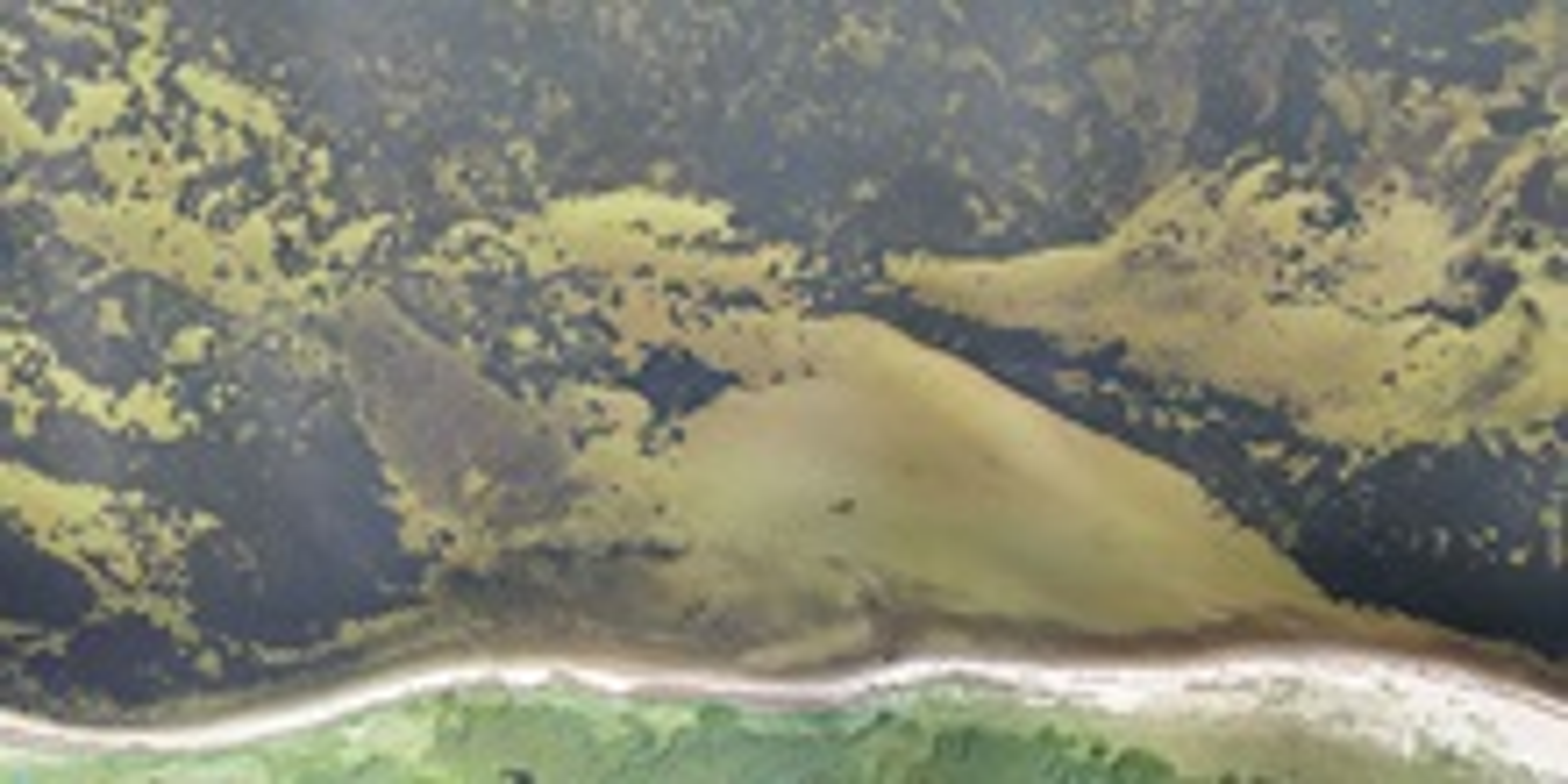 Luftfoto fra Lovns bredning. Foto DTU Aqua
